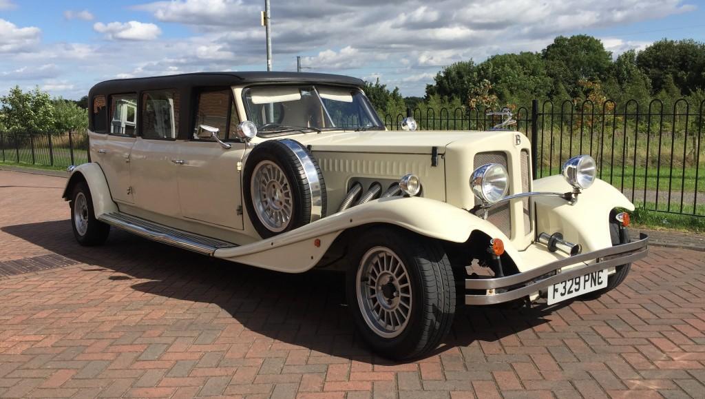Stretched Beauford Tourer Wedding Car